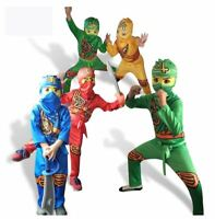 Boys Ninjago Costume Kids Ninja Cosplay Book Week Fancy Dress Halloween Outfit