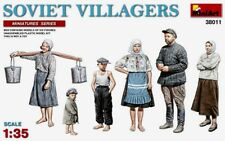 Miniart 1:35 kit modelo soviético aldeanos figuras
