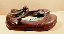 "Women  EARTH KALSO ""FAYLYN"" sz 6 B brown leather comfort Mary Jane Flats shoes"
