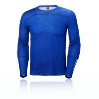 Helly Hansen HH Lifa Merino Mens Blue Long Sleeve Crew Neck Sports Top