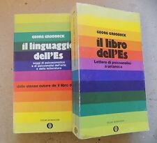 IL LIBRO DELL'ES + IL LINGUAGGIO DELL'ES - GEORG GRODDECK - MONDADORI - A12