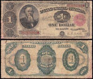 "Circulated 1891 $1 ""STANTON"" Treasury Note! FREE SHIPPING! B13134944*"