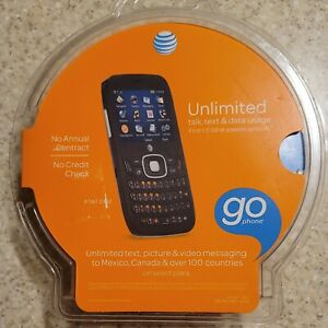 NIB AT&T GO Phone Z482 Talk Text and Data Usage