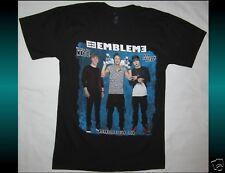 Emblem 3 Bandlife Tour 2014 Size Small Black T-Shirt