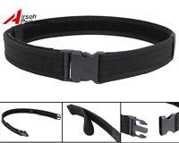 "1.5"" Black Tactical SWAT Police Security Combat Gear Utility Nylon Duty Belt"