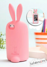 New Cute Rabito Rabbit Ears Protective Silicone Case Cover Stand for iPhone 5/5S