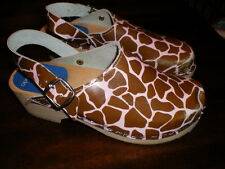 CAPE CLOGS Giraffe Print Euro 35 Shoes USA 5 MADE IN SWEDEN Torpatoffeln
