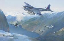 "De Havilland Mosquito Norwegian Aircraft Airplane Painting Art Print - 14"" Print"