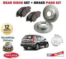Para Honda Crv 2.0 I 2.2 dtec 2006-2012 Nuevo Freno Trasero Discos Set + Disco Pad Kit