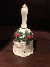 Avon Christmas Bell Poinsettias Gold Rim Porcelain
