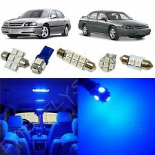 12x Blue LED lights interior package kit for 2000-2005 Chevy Impala CI2B