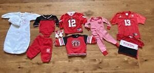 Nebraska Husker Baby Boy Toddler Clothing Lot - Jerseys Pajamas Nike Adidas