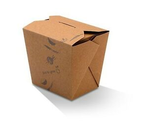 16oz Noodle / Fried Rice Takeaway Box (PLA) - BROWN  500 pcs