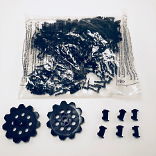 Chain MICRO KNEX LOT 4 Sprocket Gears 10 Chain Guides//Clips Black Pieces 6 Ft