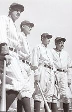NEW YORK YANKEES 1927 POSE WITH BATS IN HAND THE MURDERS ROW CLASSIC UP CLOSE