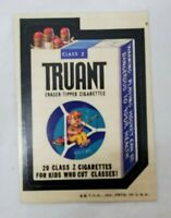 """VINTAGE """"Truant Cigarettes"""" 1974 Wacky Packages Series 6 Printed in USA"""