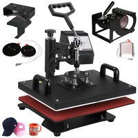 """6 in 1 Heat Press Machine For T-Shirts 12""""x15"""" Combo Kit Sublimation Swing away"""
