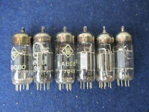 6 x EABC 80 Röhren, sehr guter geprüfter gebrauchter Zustand, WF & Lorenz