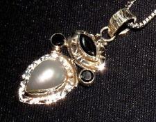 Collares y colgantes de joyería de plata de ley perla plata