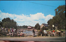 c1950s Roger Deering Outdoor Painting Class Kennebunkport Maine postcard view