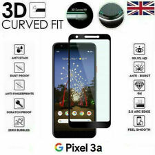 For Google Pixel 3a Full Coverage 3D Tempered Glass 9H Screen Protector Cover