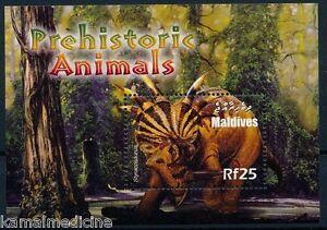 Maldives 2005 MNH SS, Styracosaurus, Herbivarous Dinosaurs, Prehistoric