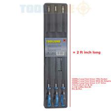 500mm 2ft Extra Long Reach / 3 FLEXIBLE Flexi Shaft DRIVERS +Screwdriver BIT SET