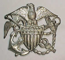 WW2 US Public Health Service Sterling Hat Badge - Blackinton