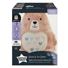 Tommee Tippee Bennie Bear Rechargeable grofriend Night Light and Sound Sleep Aid