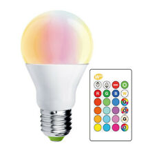 LEDBOX Bombilla LED E27, 10W, RGB+W + mando a distancia  RGB + Blanco frío