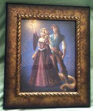 Disney Princess Rapunzel Flynn Tangled Lithograph Fairytale Designer PictureRARE