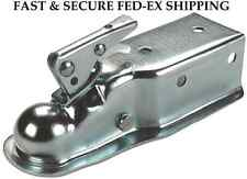 "FULTON FAS-LOK 5000 lbs. TRAILER COUPLER 2"" BALL ~ 3"" CHANNEL ZINC FINISH NEW"