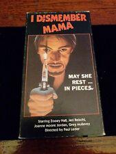VHS I Dismember Mama Video Gems HORROR , SLASHER RARE -NON RENTAL