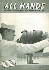 ALL HANDS JUN 55 USS ESSEX_P5M-2 VP_P2V NEPTUNE_USS HORNET_NEW ATOMIC POWER SSN