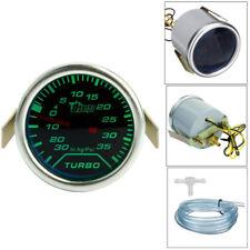 "Universal 52mm 2"" Green LED Car Turbo PSI Boost Pressure Gauge Meter 12V 0-35psi"