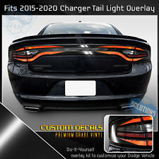 For 2015-2020 Charger Tail Light Blackout Overlay Decal V1 - Gloss Black Vinyl