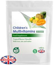 100 Tablets - Tropical Flavour Children's Kids Multivitamin & Minerals, Chewable