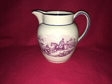 Staffordshire Pearlware Dated Pitcher 1818 Dogs Horse Rabbit Hunting Transfer