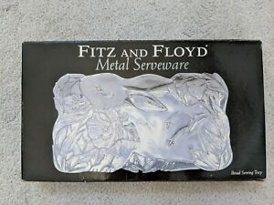 Fitz and Floyd Bread Tray Metal Serveware Serving Tray Collector Plate (#2)