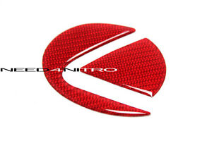 For 15+ Lexus RC F Sport RC 350 Coupe Carbon Fiber Trunk Emblem Decal Insert RED
