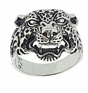 Sterling Silver Panther Ring, Jaguar Detail