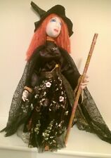 More details for fairy witch queen handmade ooak fantasy artist  cloth dolls  by dollydumpling
