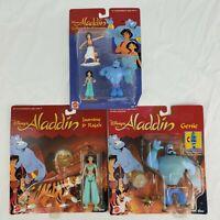 *NEW IN BOX* SEALED Vintage Aladdin Figure LOT. Genie, Jasmine, Aladdin, Rajah