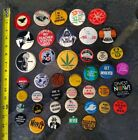 1960s 70s Pinback Protest March Buttons LARGE LOT 42 Vietnam Union Equal Rights