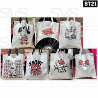 BTS BT21 Official Authentic Goods Tote Bag Music Ver 40 x 36,5cm + Tracking Num
