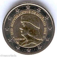 Nuevo diseño 2 Euros 2012 Monaco @@ 500 Aniversario de Soberania @@