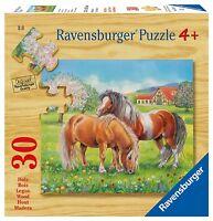 Ravensburger 03921 - Auf der Koppel Pferde Holzpuzzle 30 Teile ab 4 Jahren
