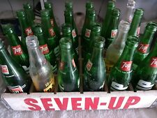 Case Of 7up Bottles with wood crate.