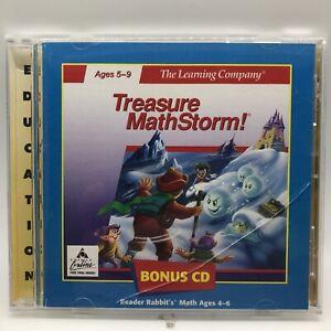 Treasure Mathstorm 2.0 PC MAC CD learn time, measurements money mathematics game
