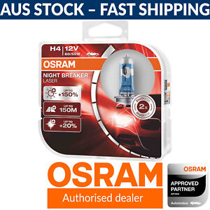 OSRAM Night Breaker Laser (Next Generation) gen 2 H4 Car Headlight Globes (Twin)